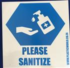 SANITIZE SIGN 290